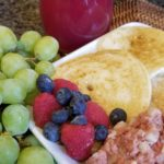 Bisquick Pancakes Fruit and Corned Beef Hash
